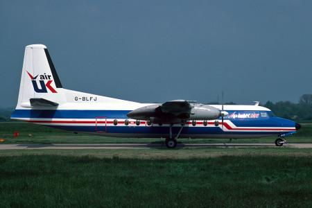 G BLFJ Fokker F27-100. Southampton June 1987