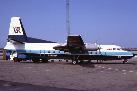 G BLGW F27-200. Possibly Stavanger 1985