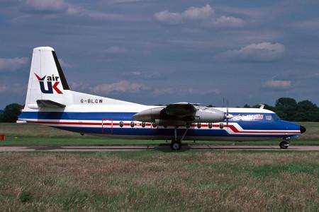 G BLGW F27–200. Southampton July 1987