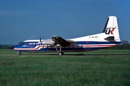 G BLML F27–200. Southampton May 1986