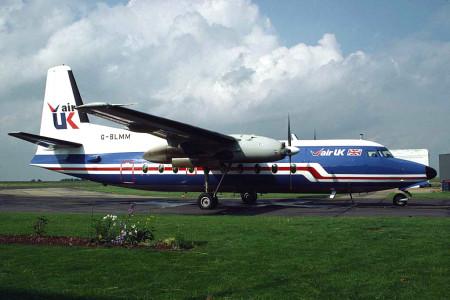G BLMM F27–600. Norwich 1984/5