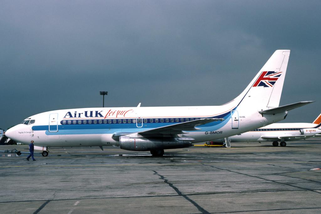 G BMOR Boeing 737 - 2S3. London Stansted June 1988 Photo Richard Vandervord.