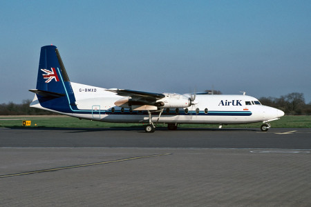 G BMXD Fokker F27–500. Southampton March 1998