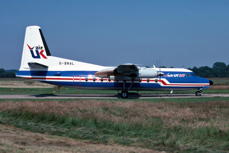 G BNAL Fokker F27–600. Southampton July 1987
