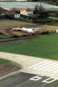 G BNCY Fokker F27 – 500. Guernsey December 1997