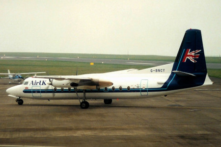 G BNCY Fokker F27–500. Jersey March 1997