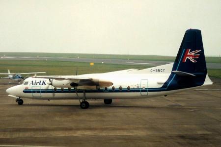G BNCY Fokker F27–500. Jersey March 1997