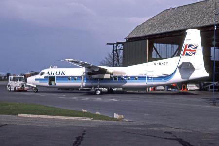 G BNCY Fokker F27 – 500 Norwich