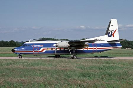 G BNCY Fokker F27–500. Southampton August 1987