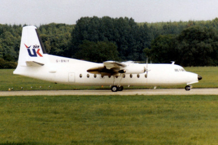 G BNIY Fokker F27 – 600. Southampton September 1987