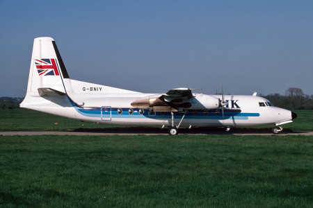 G BNIY Fokker F27–600. Southampton May 1988