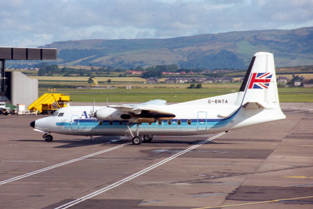 G BNTA Fokker F27–600. Glasgow Aug 1988
