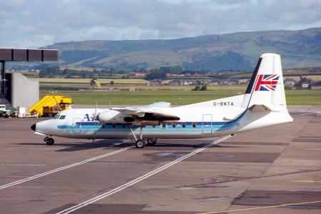 G BNTA Fokker F27–600. Glasgow Aug 1988