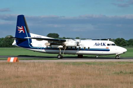 G BVOB Fokker F27–500. Southampton September 1997
