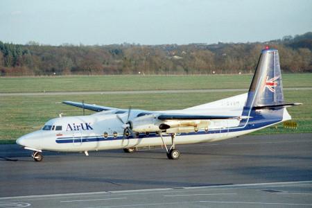G BVOM Fokker F27–500. Southampton February 1997