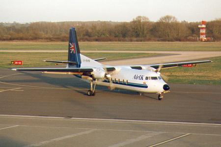 G BVRN Fokker F27–500. Southampton  February 1997