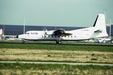 G JEAB Fokker F27–500. Amsterdam October 1993