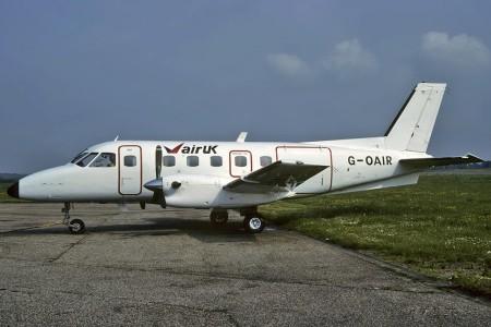 G OAIR Embraer EMB 110P1 Bandeirante. Southend 1983