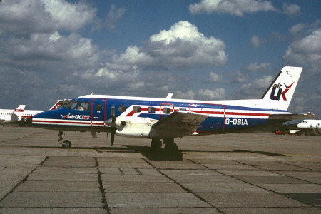 G OBIA Embraer EMB 110P1 Bandeirante. Unknown Location 1982