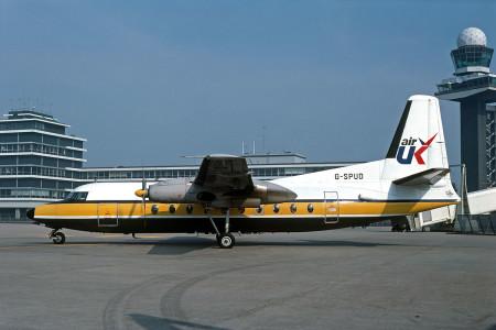 G SPUD Fokker F27 – 100. Amsterdam June 1981