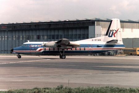 G STAN Fokker F27 – 200. Glasgow Jul 1987