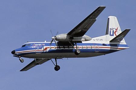 G STAN Fokker F27 – 200. London Heathrow September 1986