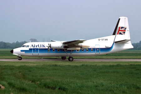 G STAN Fokker F27 – 200 named Friendship Jimmy Saville. Southampton May 1988
