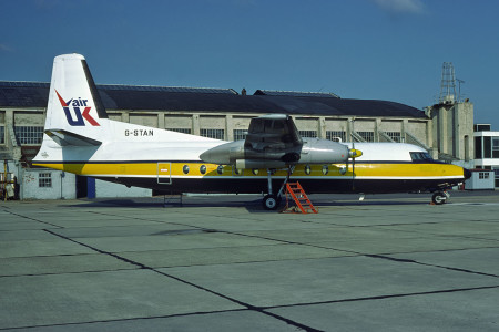 G STAN Fokker F27 – 200. Southampton October 1980