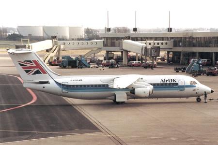 G UKAG BAe 146 - 300. Amsterdam March 1993
