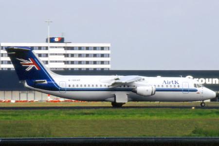 G UKHP BAe 146–300. Amsterdam July 1994