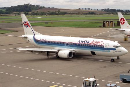 G UKLA Boeing 737 – 4Y0. Edinburgh September 1989