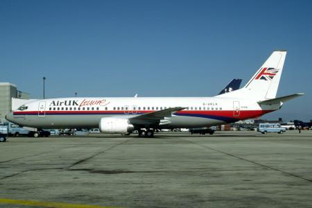 G UKLA Boeing 737 - 4YO. London Gatwick September 1991