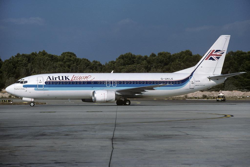 G UKLE Boeing 737 – 4Y0. Palma June 1995 Photo Toni Marimon.