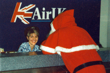 Jenny Graham pictured at the Air UK Ticket Desk Southampton