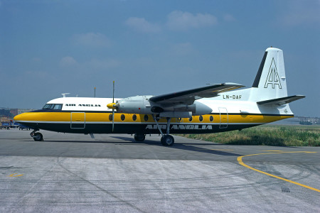 LN DAF Fokker F27 – 200. Unknown location 1975