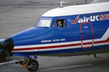 G BMXD Fokker F27 500. Jersey February 1988