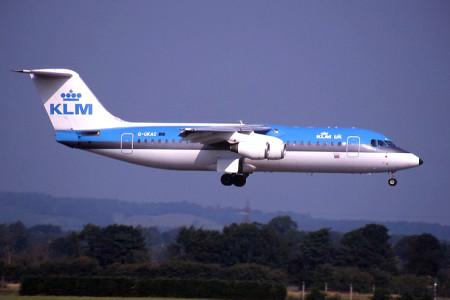 G UKAC BAe 146 – 300. Glasgow August 1999