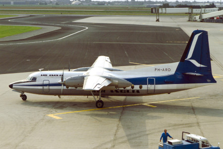 PH ARO Fokker F27 – 400. Unknown location 1976
