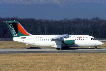 EI CMS BAe 146 – 200. Geneva February 1998