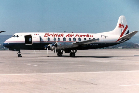 G AOHM Vickers Viscount 802. Glasgow early 1990s