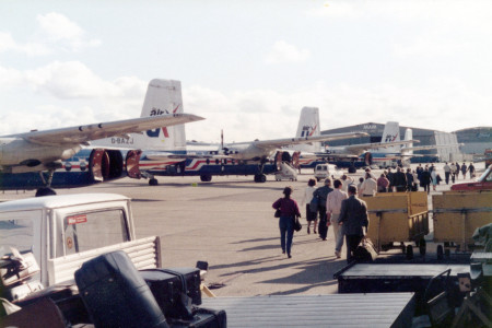 Handley Page Herald aircraft at Southampton in 1984