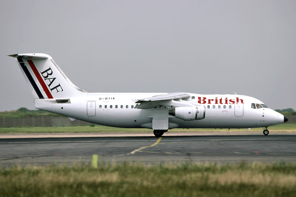 This aircraft was chartered by AirUK and used in May and June 1991, and in November 1991 it was used on a STN/GCI/STN in the rotation. It is shown in BAF colours. Photo Richard Vandervord.