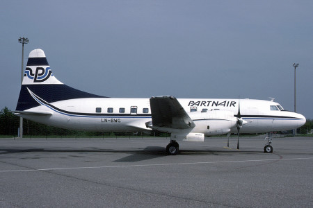LN BWG Convair 580. Basel May 1987