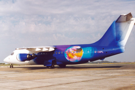 G ZAPL BAe 146 – 200. Guernsey September 1997