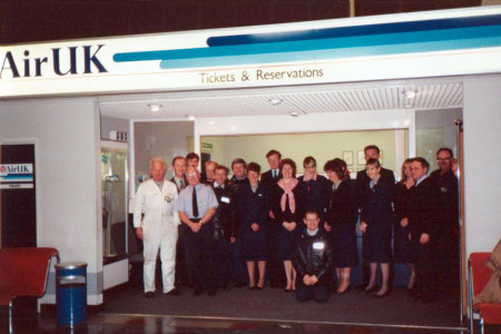 Pictured at the Air UK ticket Desk in the old terminal at Southampton