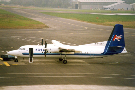 PH KXF Fokker 50 named City of Norwich. Newcastle May 1994