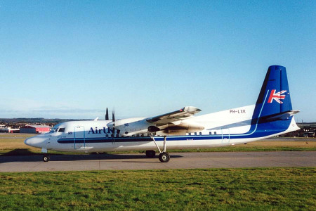 PH LXK Fokker 50 named City of York. Aberdeen 1994