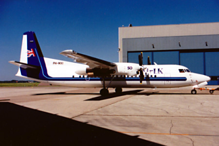 PH MXI Fokker 50 Unknown Location