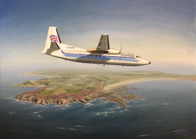 Fokker Friendship approaching Jersey Print Available from Toby Dixon Email : tdpaintings@outlook.com Mobile : 07580 646802