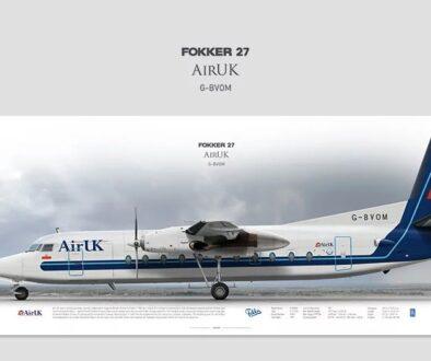 F27 GBVOM Aviaposter